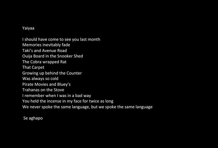 Yaiya Poem
