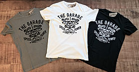 T-shirt The Garage logo bandiere
