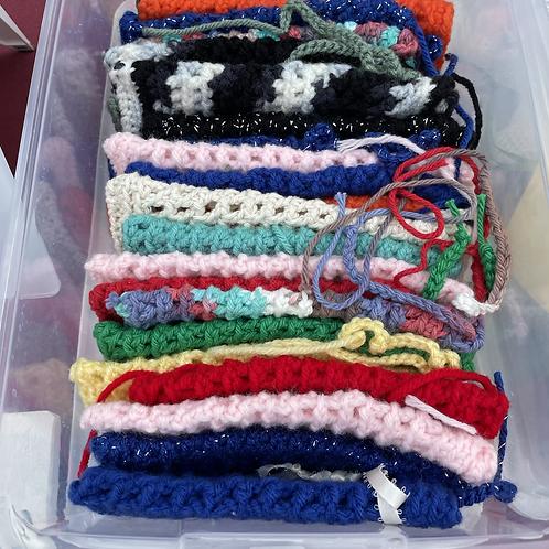 Crochet cotton yarn soap saver