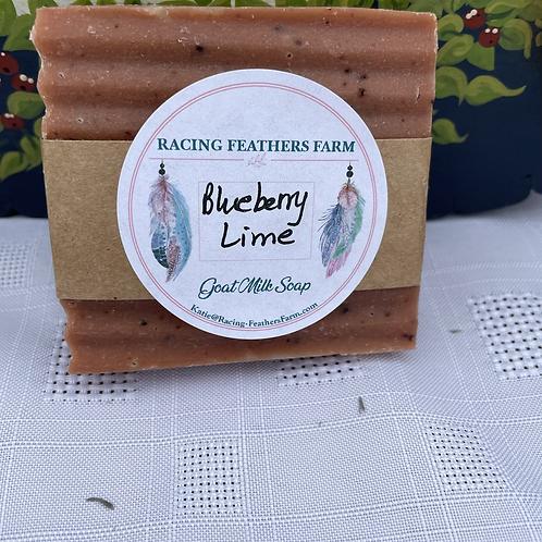 Goat milk soap- blueberry lime