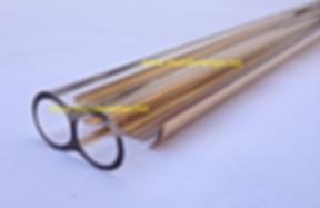 quartz tube gold reflector