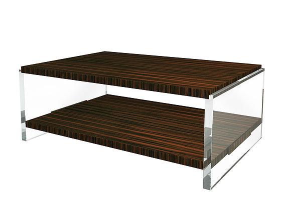 VEGA COCKTAIL TABLE .   (Macassar Ebony)