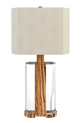 MELROSE LAMP ZEBRAWOOD