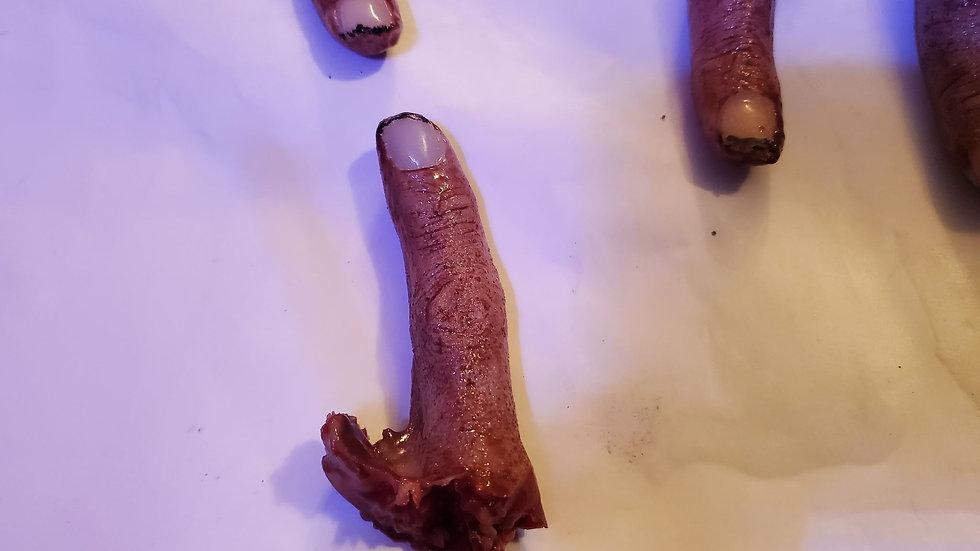 severed index finger movie prop