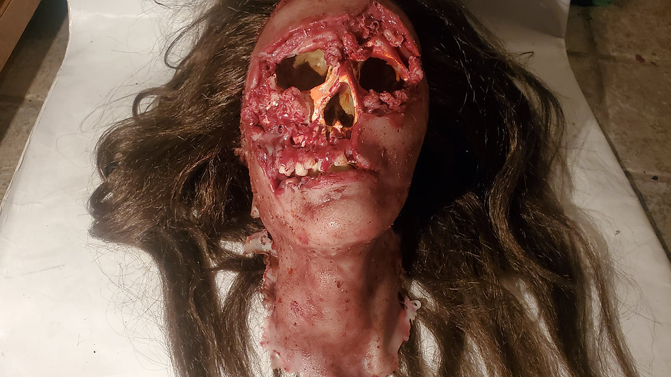 Screen used movie prop head from evaporation #3