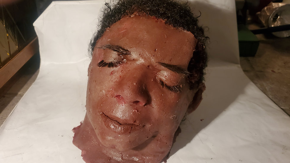 Screen used movie prop head from evaporation #2