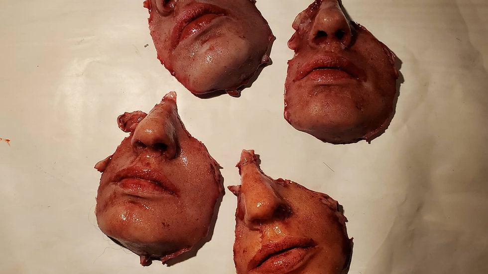 Female face chunk movie prop