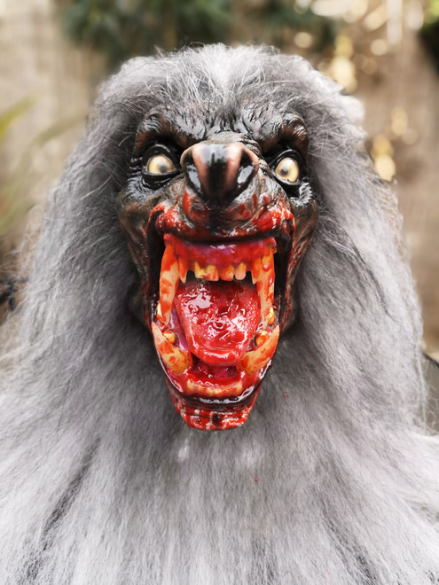 The Lycanthrope Snow Wolf Bloody Mouth Version