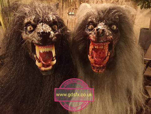 Werewolf masks 'Lycanthrope'