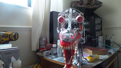 Animatronic baby werwolf mechanism