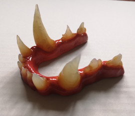 Werewolf teeth and gums