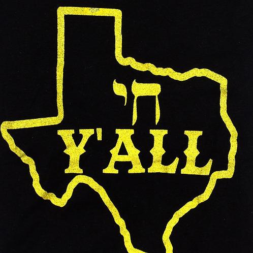 Chai Y'all Texas T-Shirt (Black/Gold)
