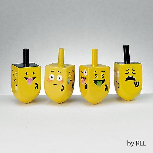 Chanukah Emoji Dreidels