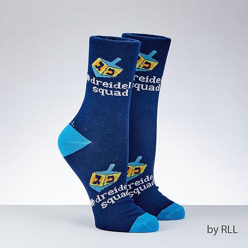 Chanukah Dreidel Crew Socks (Adult Sizes)