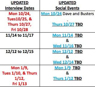 SBEM 2016-2017 Interview season dates