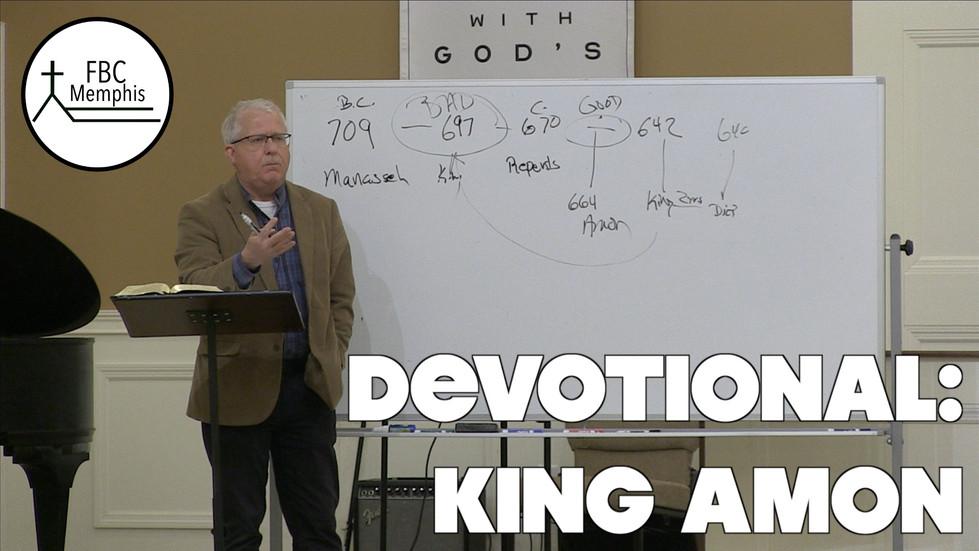 Devotional: King Amon