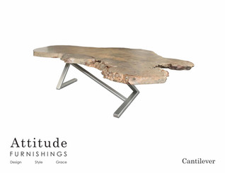 Cantilever Live Edge Coffee Table