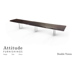 Double Vision Live Edge Dining Table