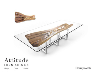 Honeycomb Live Edge Dining Table