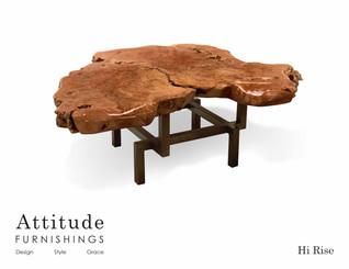 Hi Rise Live Edge Coffee Table