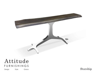 Starship Live Edge Console Table