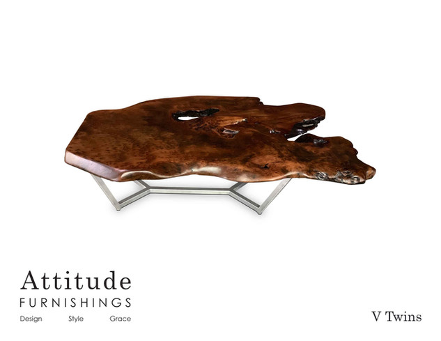 V Twins Live Edge Coffee Table