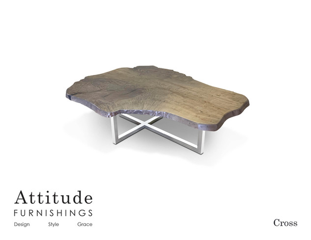 Cross Live Edge Coffee Table 2