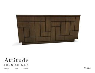 Maze 4 Door Cabinet