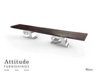 Wave Live Edge Conference Table