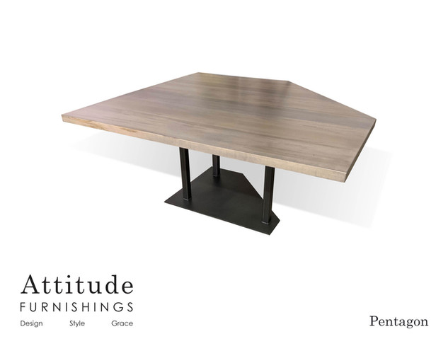 Pentagon Corner Dining Table