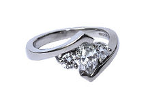 PLATINUM BESPOKE THREE STONE ENGAGMENT RING