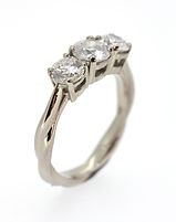 BISPOKE PLATINUM AND DIAMOND ENGAGMENT RING