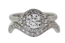 PLATINUM AND DIAMOND WEDDING AND ENGAGMENT RING