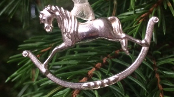 STERLING SILVER ROCKING HORSE TREE CHARM