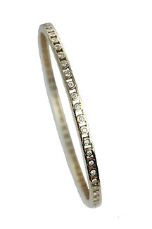 18CT YELLOW GOLD BUBBLE BANGLE