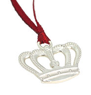 STERLING SILVER CROWN CHRISTMAS TREE CHARM IN CELEBRATION OF THE BIRTH OF PRINCE GEORGE BEING BORN