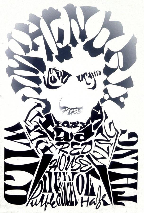Jimmy Hendrix Type Illustration