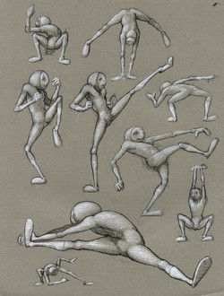 Marvin II Motion Sketches