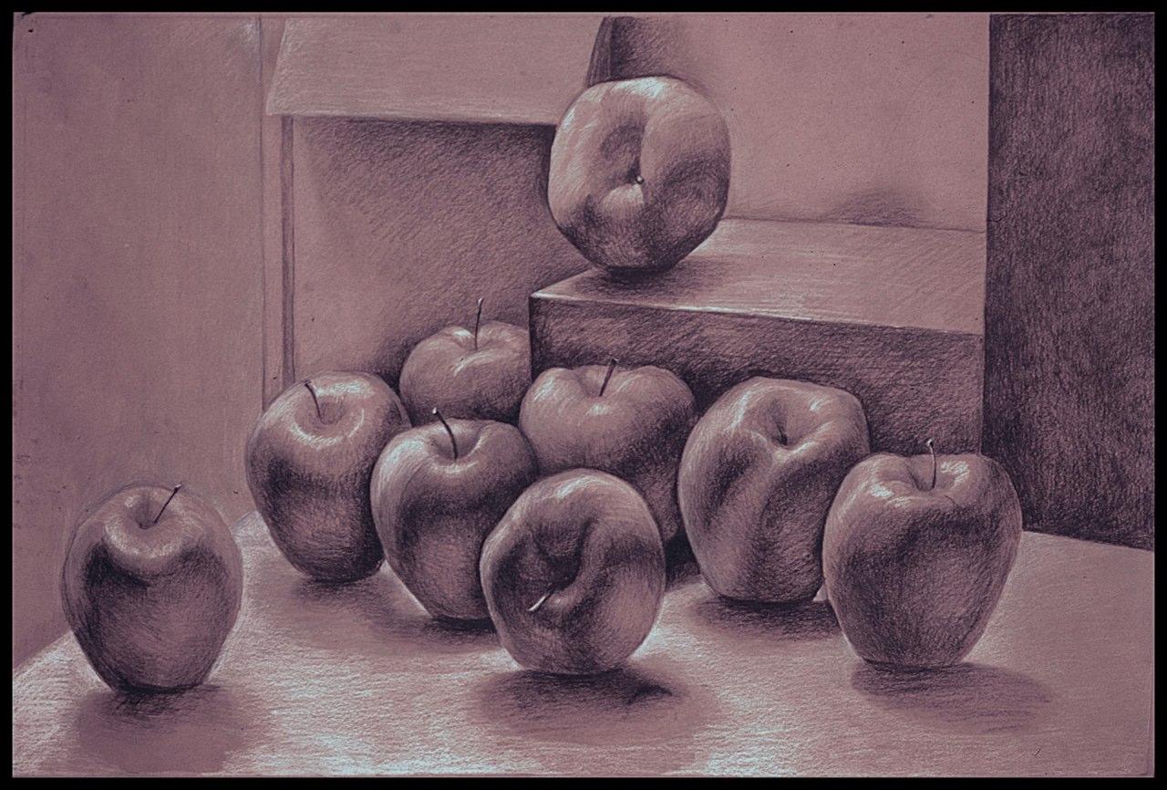 Nine Apples Still Life
