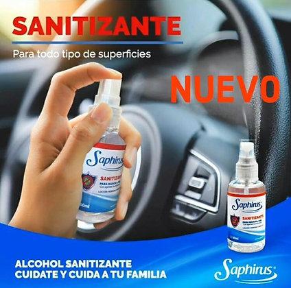 Sanitizante spray 60ml Saphirus