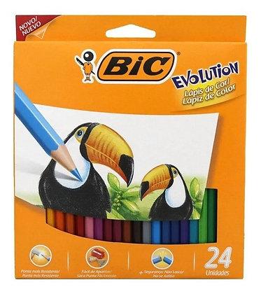 Lápices de  colores largos x 24 Bic