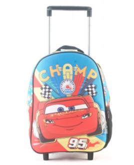 "Mochila Cars  c/carro 12"" original Wabro art 81313"