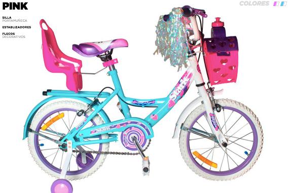 Bicicleta nena Pink rod 14 Stark art 6094