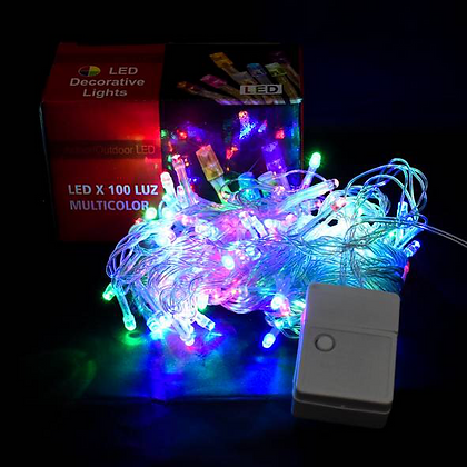 Luz x 100 led multifuncion multicolor