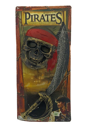 Mascara mas sable pirata blister 52x25cm Sebigus art 160344