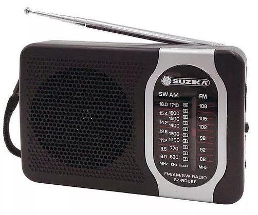 Radio portatil suzika 15x10cm art 066