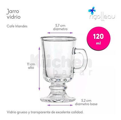 Jarro de vidrio cafe Irlandes 120 ml Rigolleau