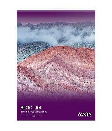 Block A4 cuadriculado Avon 80hjs emblocado