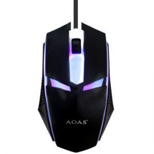 Mouse Gamer optico con luz led Aoas V01 TR EL-3359