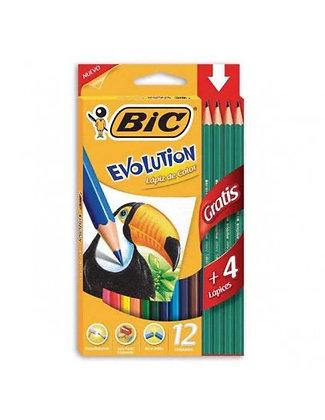 Lápices de colores largos 12+4 Bic